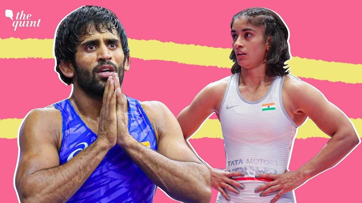 """<div class=""""paragraphs""""><p>Bajrang Punia and Vinesh Phogat are India's biggest medal hopes in wrestling at the Tokyo Olympics.</p></div>"""