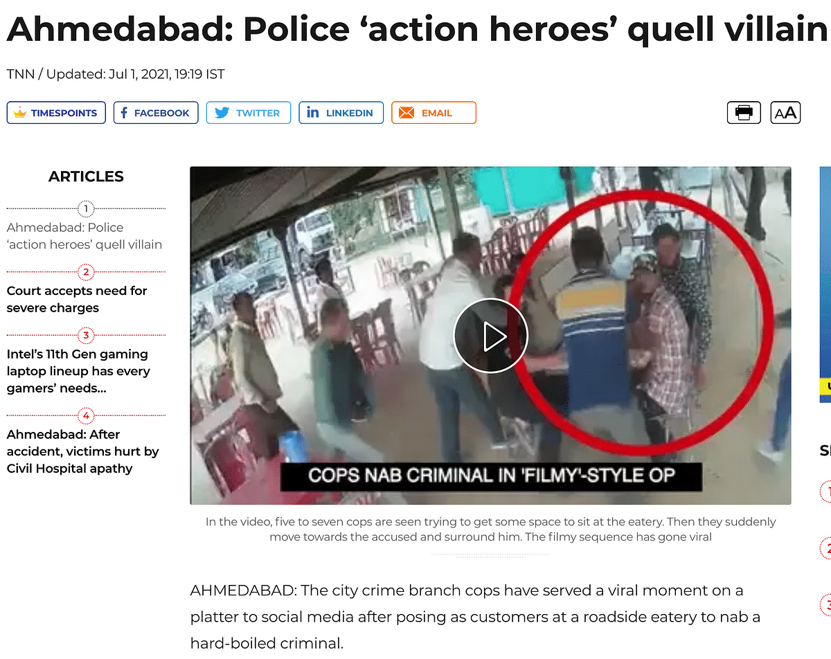Man Held by Gujarat Police Is Not Linked to Delhi Riots
