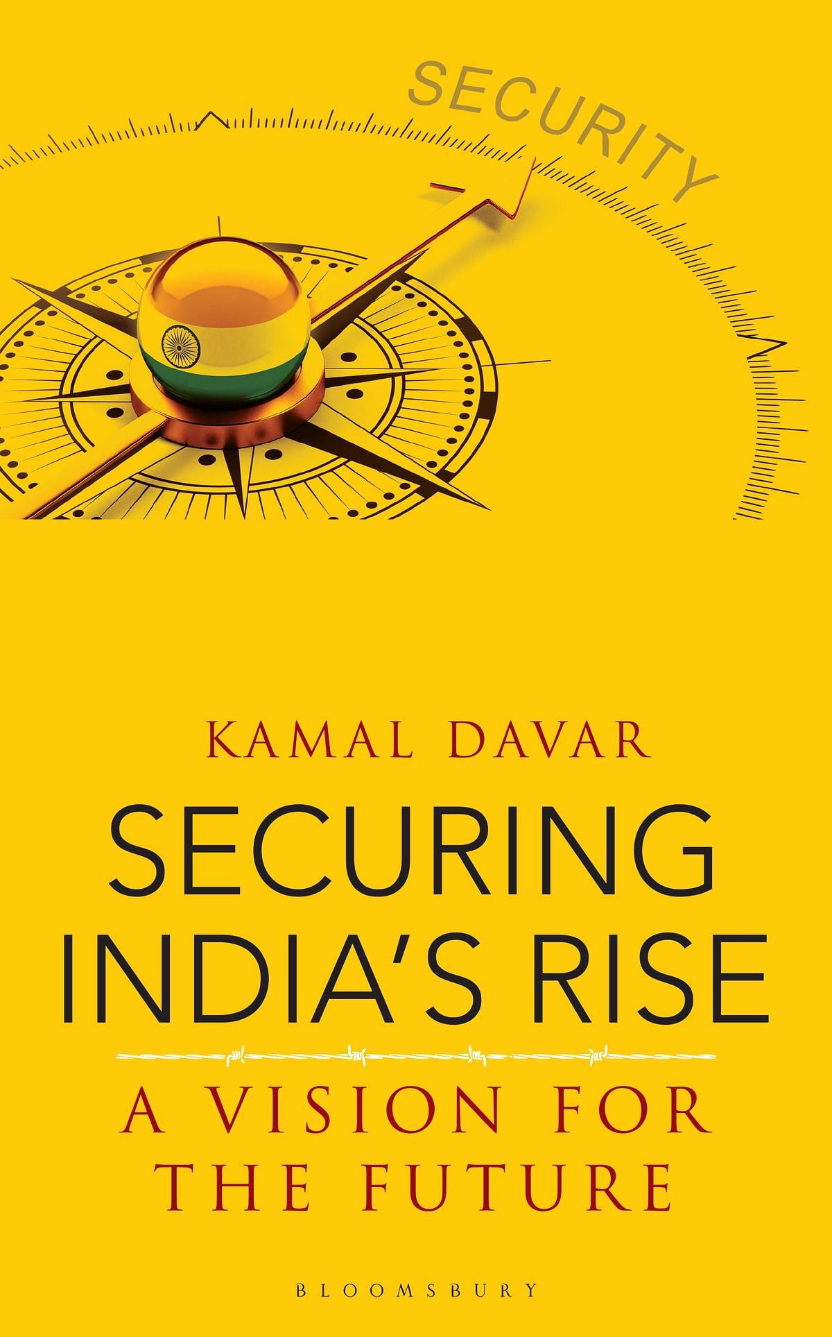 """<div class=""""paragraphs""""><p>Cover of&nbsp;<em>Securing India's Rise: A Vision for the Future.&nbsp;</em></p></div>"""