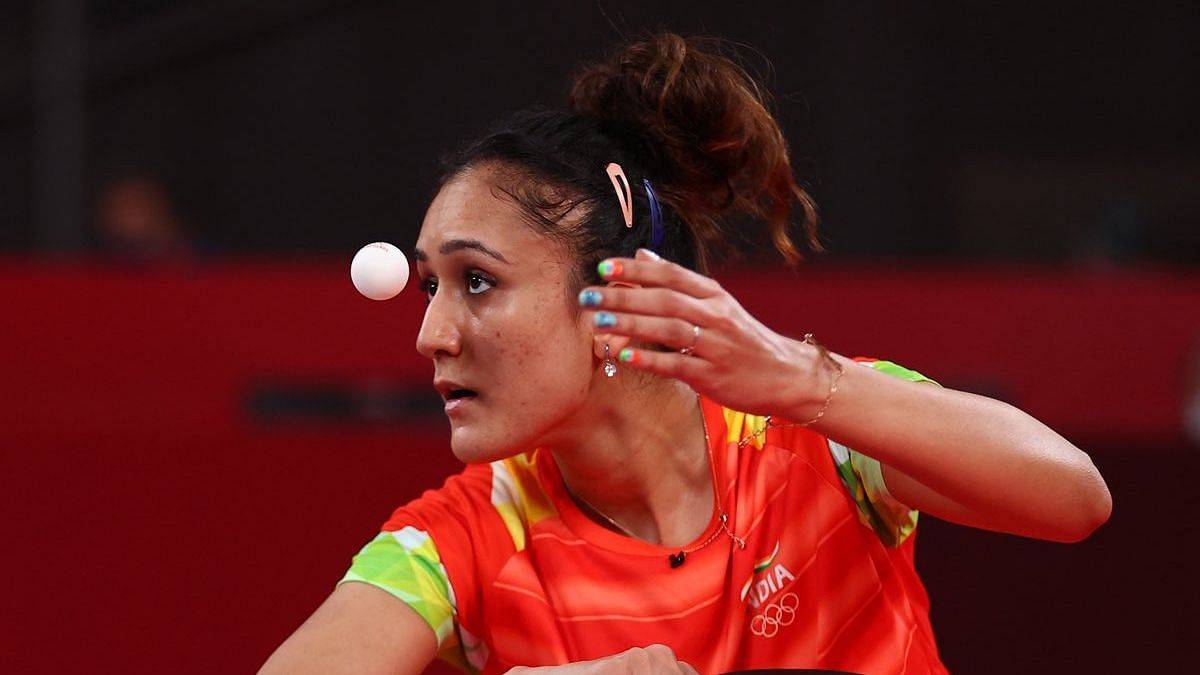 """<div class=""""paragraphs""""><p>Manika Batra in action in the 2020 Tokyo Olympics</p></div>"""