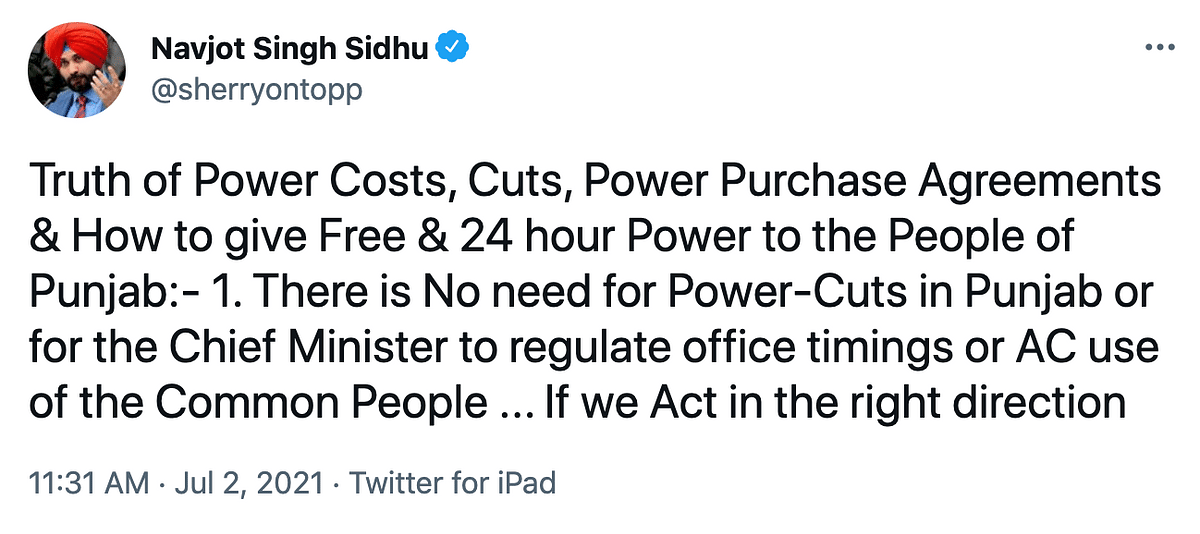 Sidhu's 'Power' Tussle With Amarinder Amid Punjab's Electricity Woes