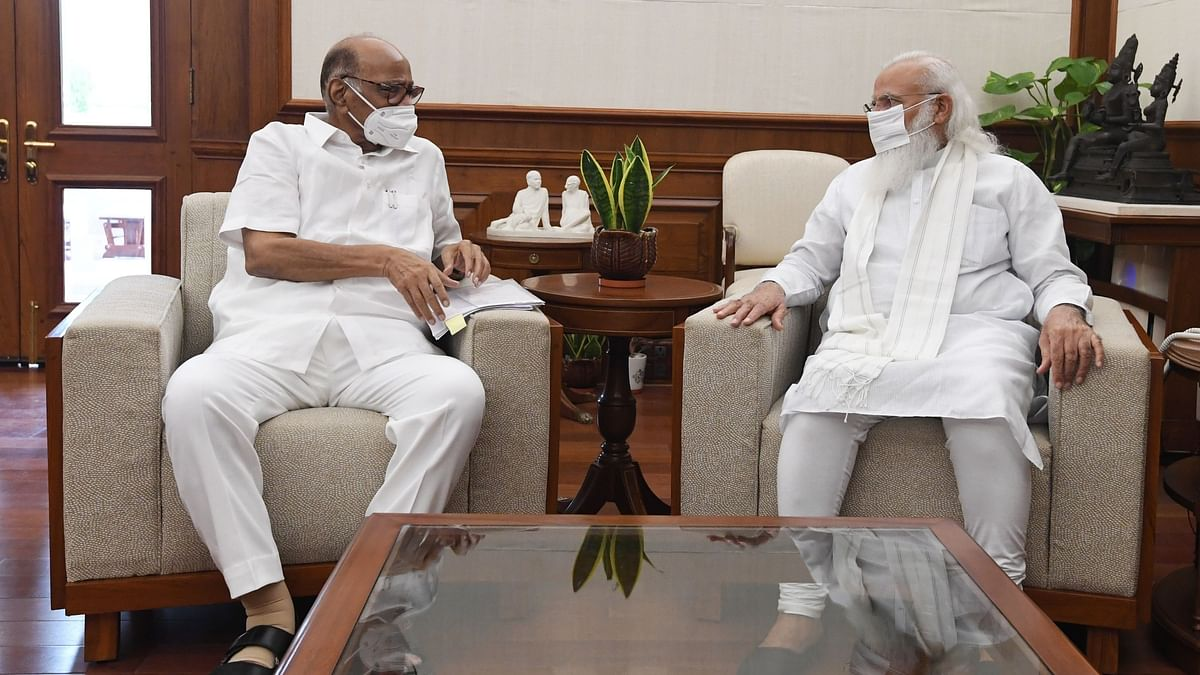 NCP Chief Sharad Pawar Holds Long Meeting With PM Modi Amid Speculations
