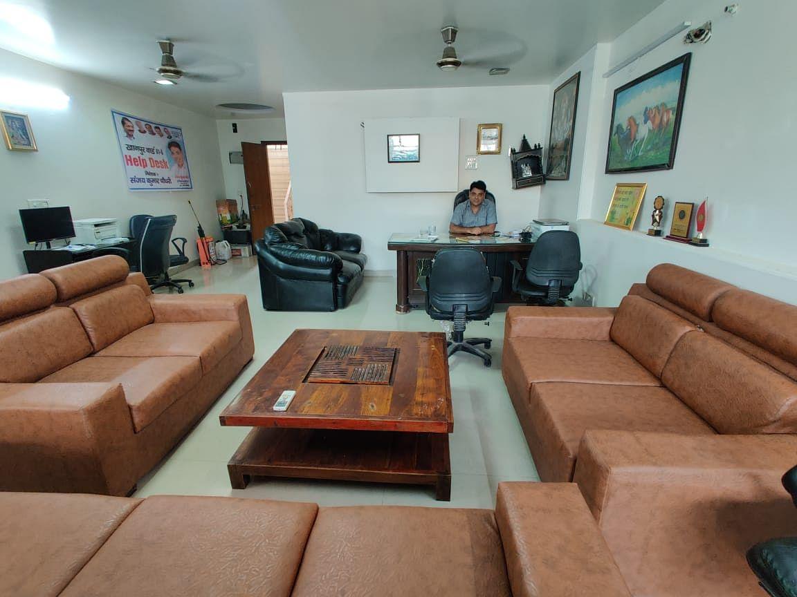 "<div class=""paragraphs""><p>Sanjay Chaudhary's office in Khanpur.&nbsp;</p></div>"