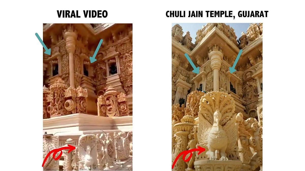 "<div class=""paragraphs""><p>Viral Video (L), Chuli&nbsp;Jain temple (R)</p></div>"