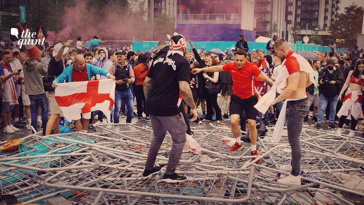Watch: Fans Let English Football Down Despite Historic Run at Euro 2020