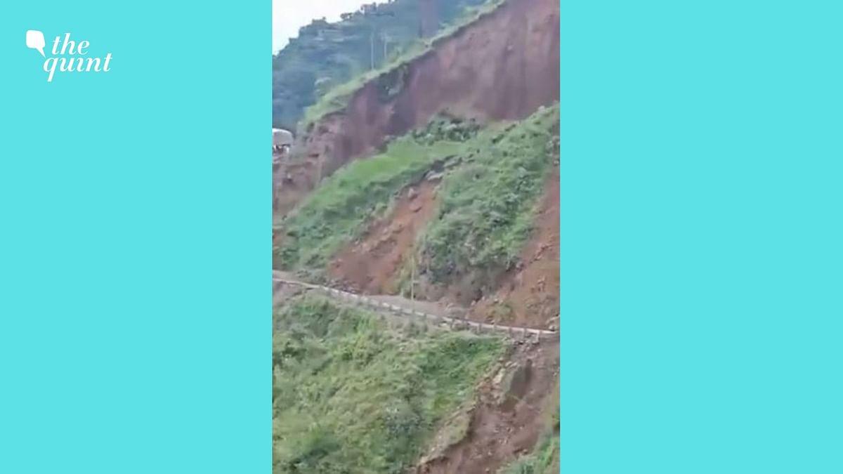 Watch: Road Caves in Massive Landslide in Himachal's Sirmaur District