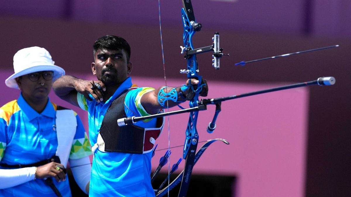 """<div class=""""paragraphs""""><p>Deepika and Pravin conceded a 2-6 defeat against South Korea in the first-ever mixed team Archery event in Olympics.</p></div>"""