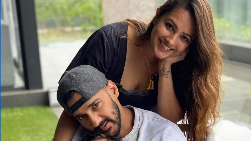 """<div class=""""paragraphs""""><p>Rohit Reddy with wife Anita Hassanandani</p></div>"""