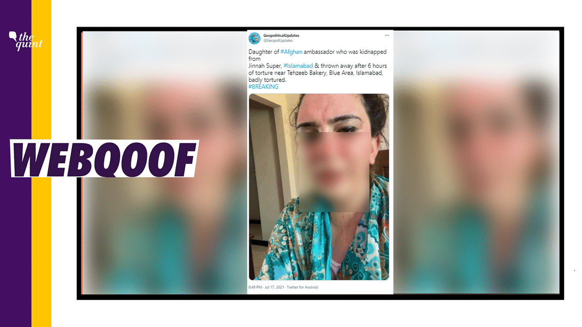 """<div class=""""paragraphs""""><p>The picture used is of a transgender Tik Tok star, Gul Chahat and not of&nbsp;daughter of <a href=""""https://www.thequint.com/topic/afghanistan"""">Afghanistan</a>'s ambassador to <a href=""""https://www.thequint.com/topic/pakistan"""">Pakistan</a>.</p></div>"""