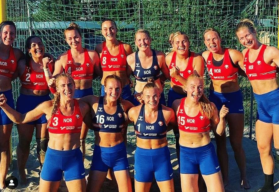 """<div class=""""paragraphs""""><p>Norwegian women's beach handball team fined for wearing shorts</p></div>"""