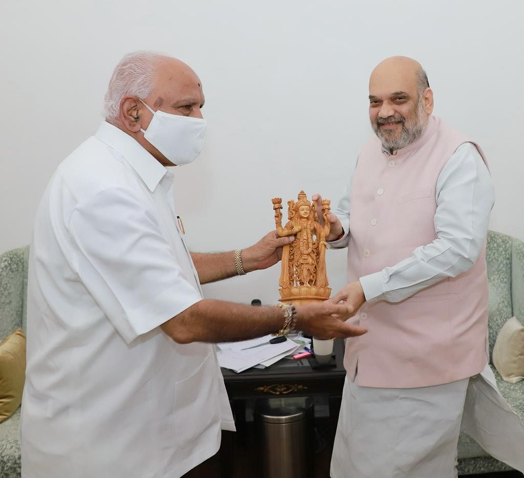 """<div class=""""paragraphs""""><p>BS Yediyurappa with Amit Shah.</p></div>"""