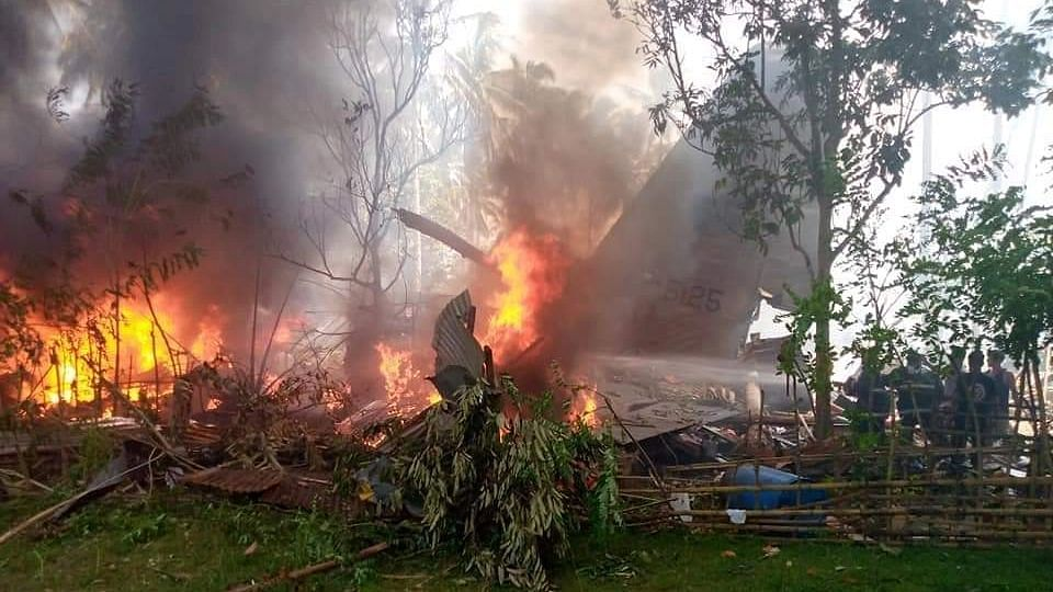 Military Plane Carrying 92 People Crashes in Philippines; 45 Dead