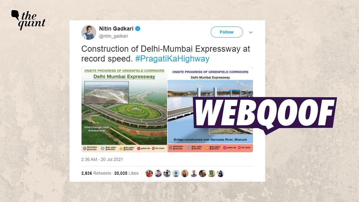 Image of Yamuna Expressway Shared as Delhi-Mumbai Expressway