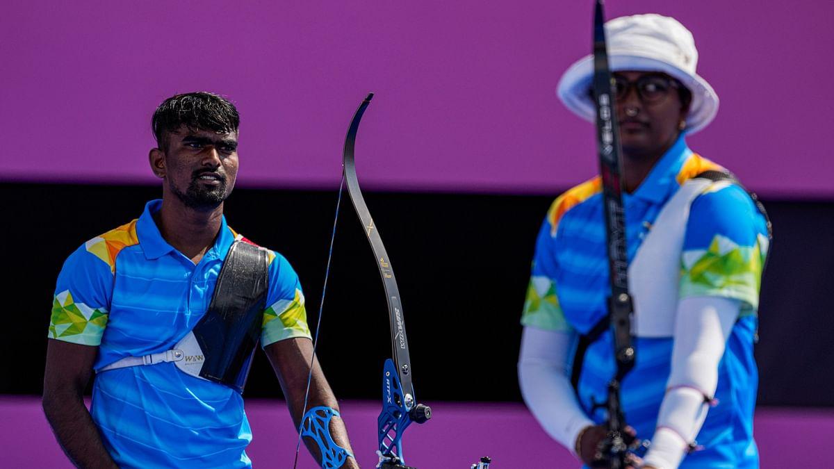 "<div class=""paragraphs""><p>Tokyo Olympics: Deepika Kumari and Pravin Jadhav during their QF.</p></div>"