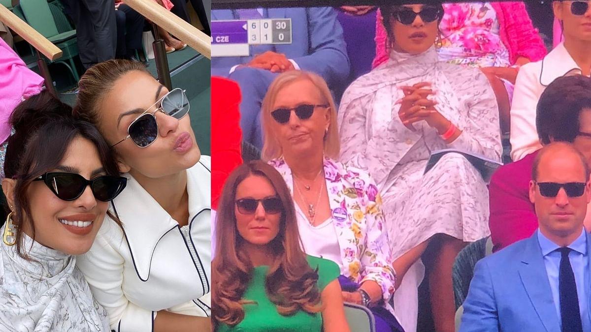 Priyanka Chopra Attends Wimbledon Finals With Kate Middleton, Prince William