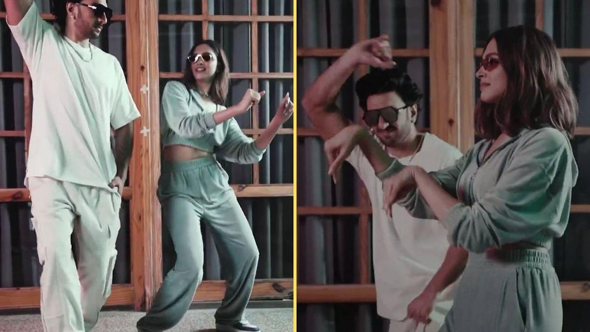 "<div class=""paragraphs""><p>Deepika Padukone and Ranveer Singh dance to 'Sada Kutta'</p></div>"