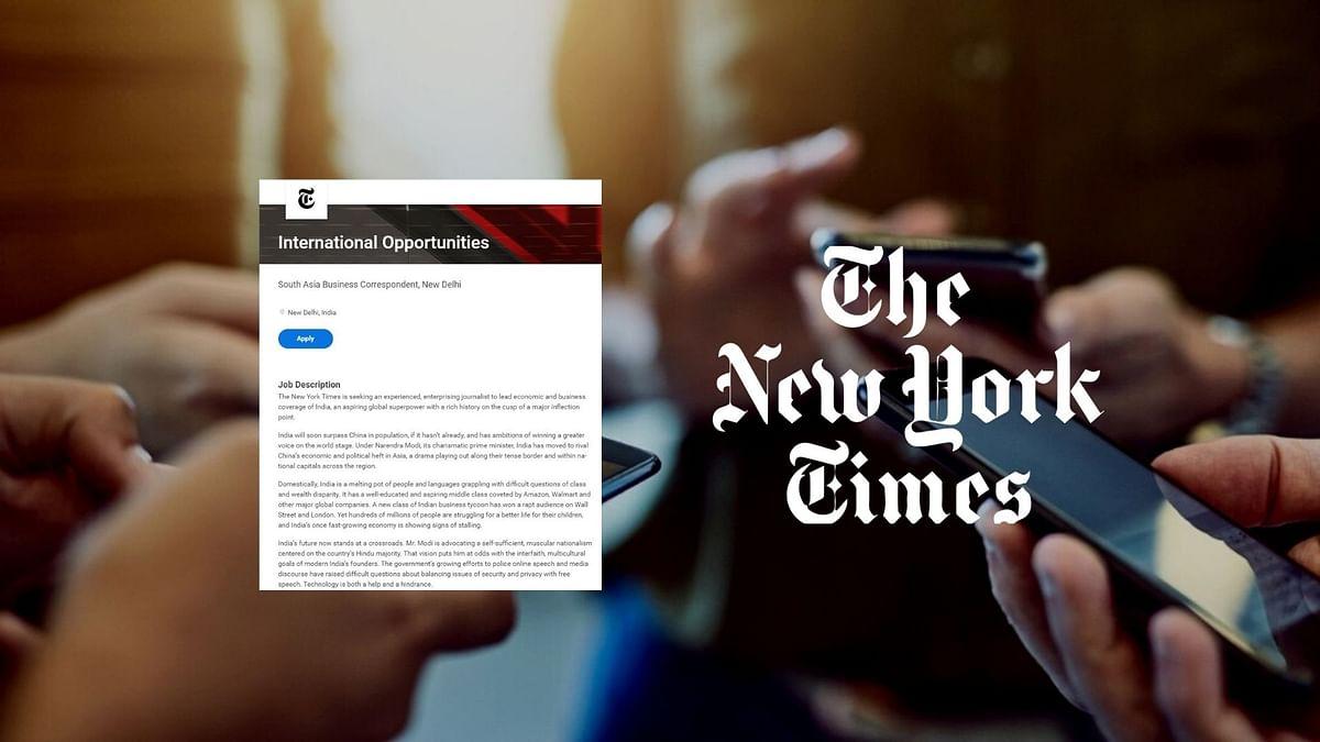 New York Times Job Ad Sparks Misplaced 'Anti-India', 'Anti-Hindu' Ire