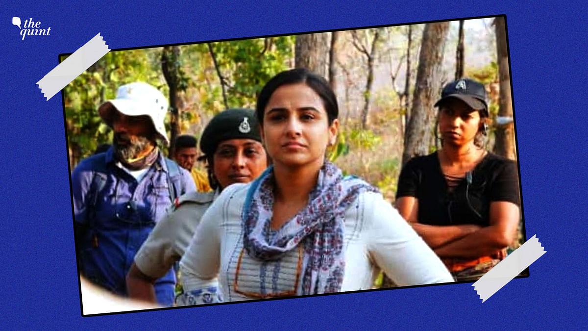 """<div class=""""paragraphs""""><p>Shashi Ahirwar with Vidya Balan in Amit Masurkar's '<em>Sherni</em>'.</p></div>"""