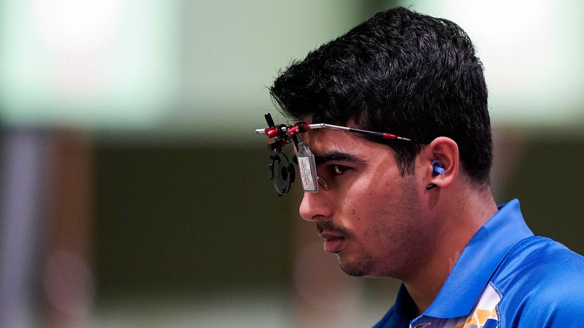 19-Year-Old Saurabh Finishes 7th in 10m Air Pistol Final at Tokyo Olympics