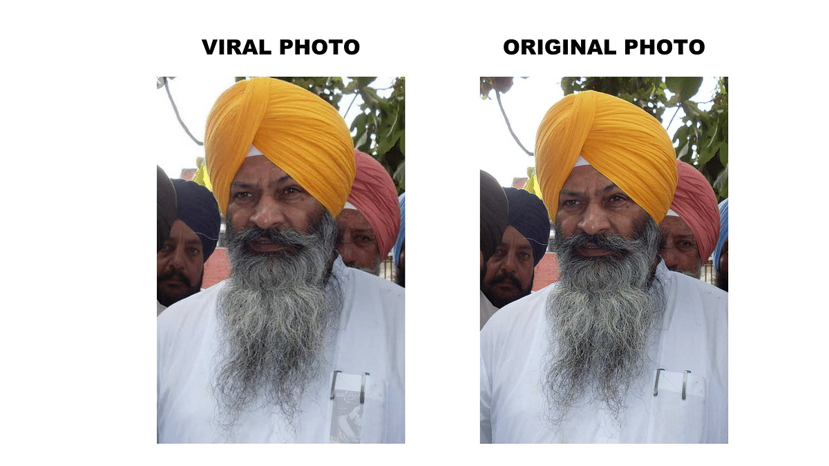 Edited Pic of Former SAD Leader Shared as Farmer Carrying Condoms