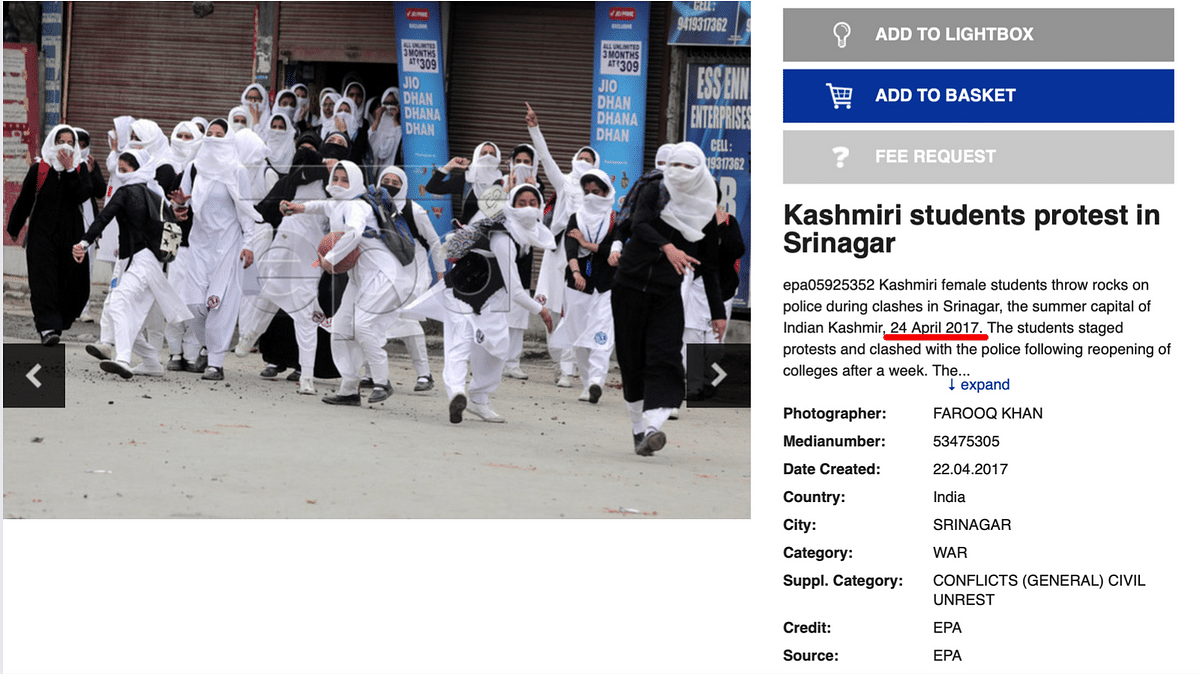 Photo From Srinagar, Taken Under BJP Rule, Used to Falsely Target Cong