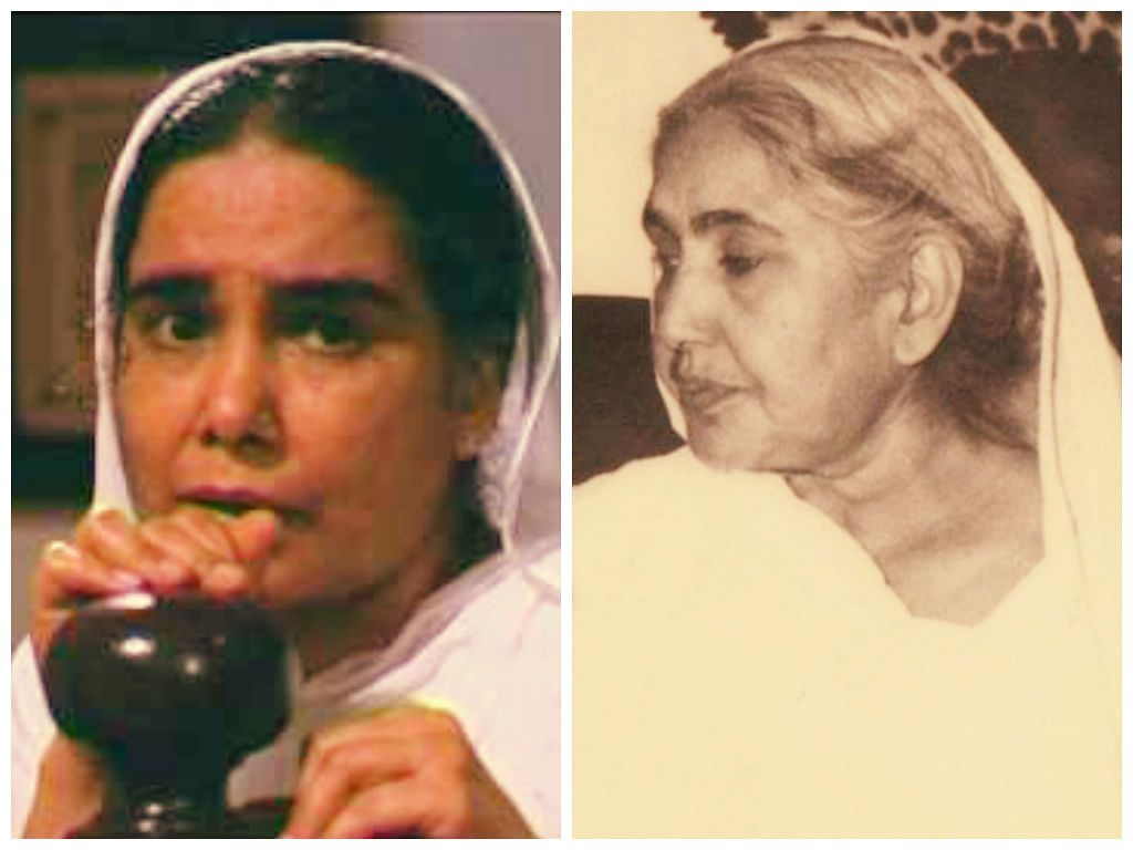 """<div class=""""paragraphs""""><p>Surekha Sikri and Fayazi Begum, whom she portrayed in Mammo.&nbsp;</p></div>"""