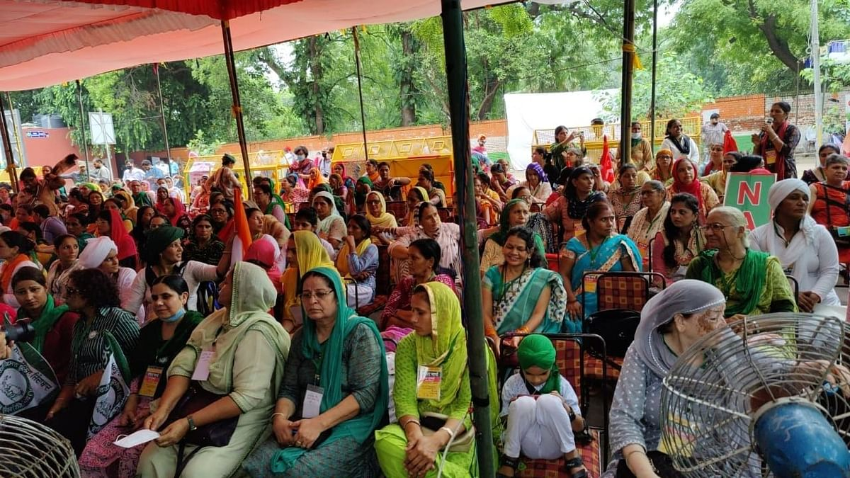 """<div class=""""paragraphs""""><p>The farm unions have been staging protests in Jantar Mantar since 22 July, during the ongoing Monsoon Session of Parliament.</p></div>"""