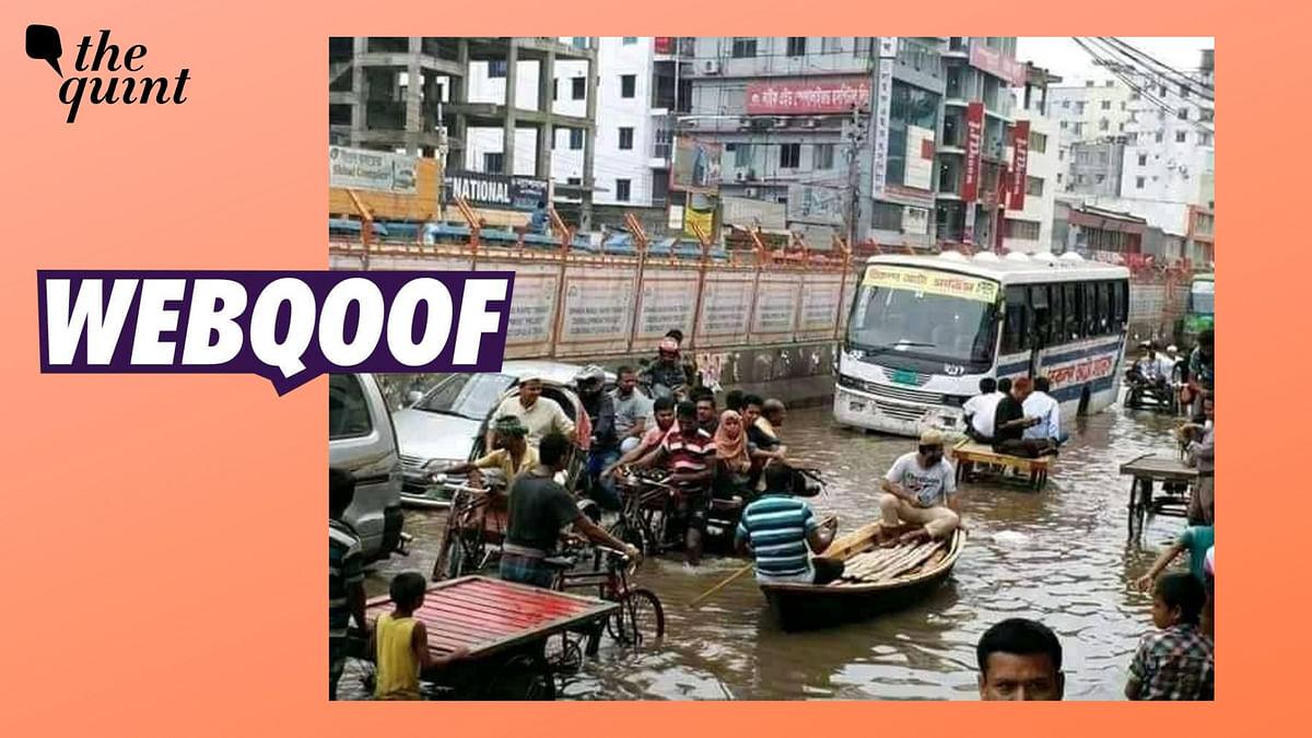 Old Image From Bangladesh Shared as Waterlogged Road in Kolkata