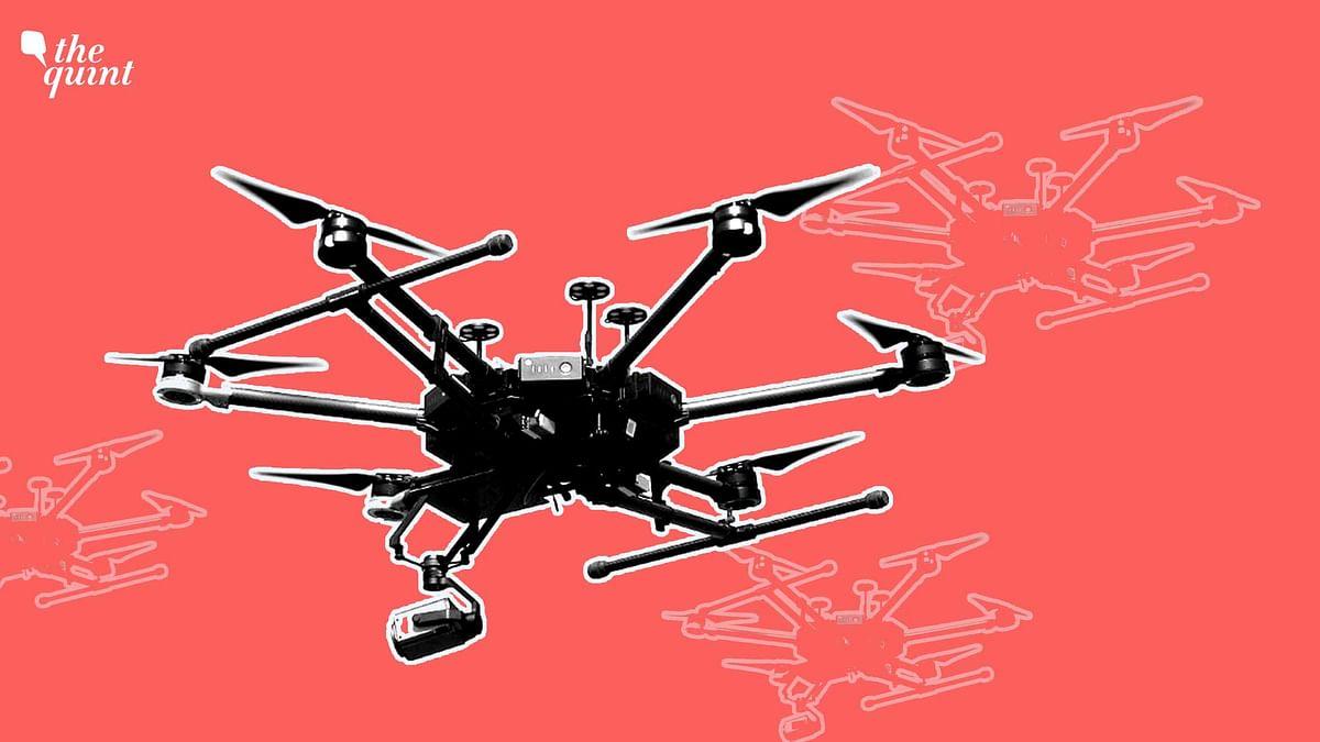 J&K: Hexacopter Shot Down, 5 KG of Explosives Found