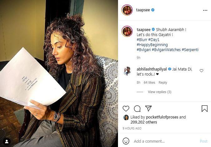 Taapsee Pannu, Gulshan Devaiah Start Shoot For 'Blurr'