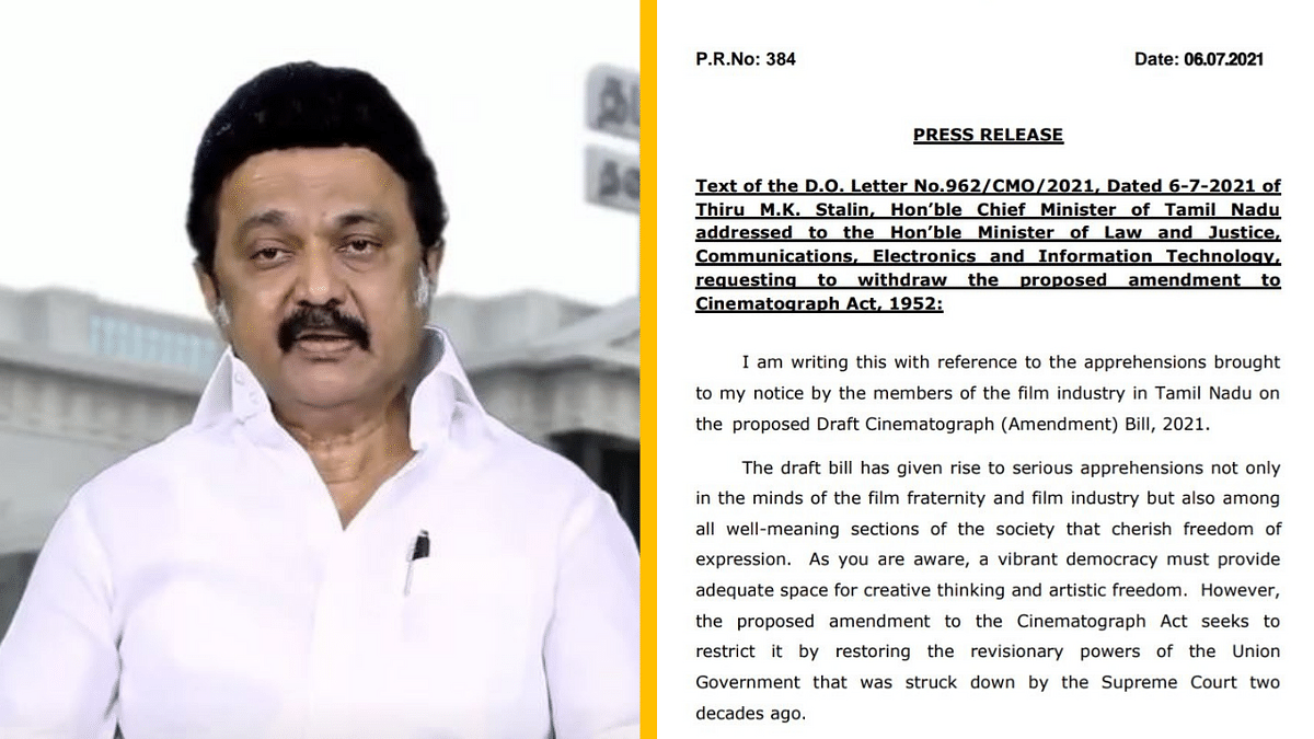 Tamil Nadu CM Stalin Urges Centre to Withdraw Cinematograph Act Draft