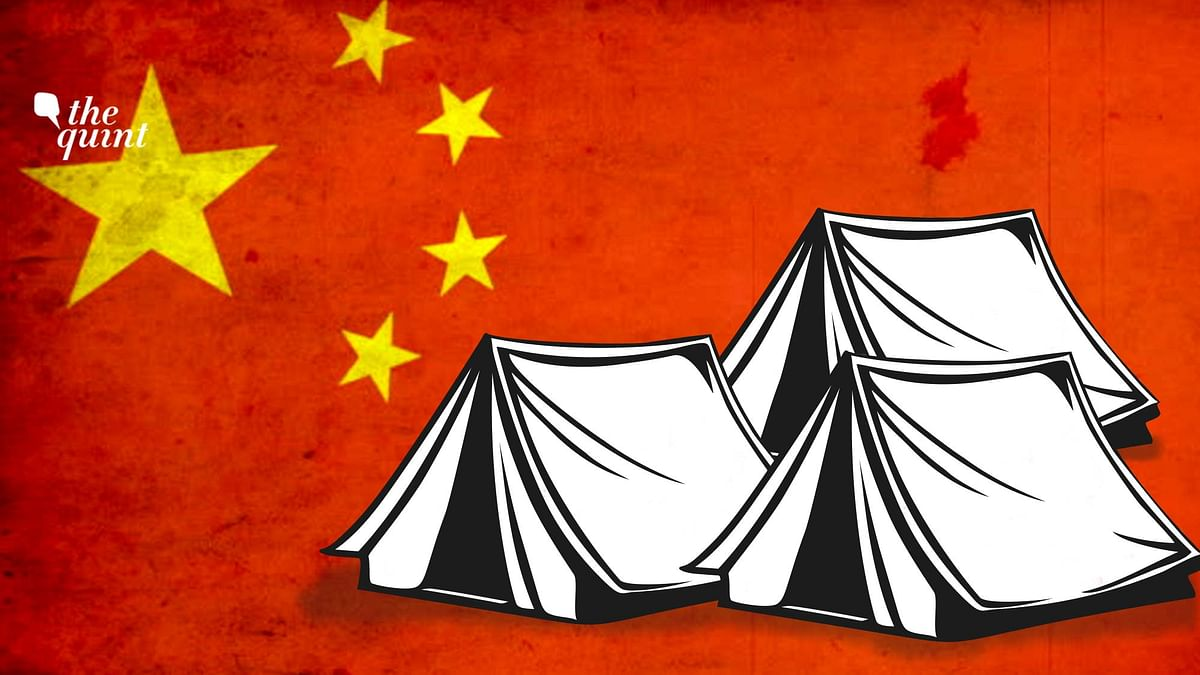 """<div class=""""paragraphs""""><p>Chinese 'civilians' have pitched tents on the Indian side of the Charding Nala in Demchok.&nbsp;</p></div>"""