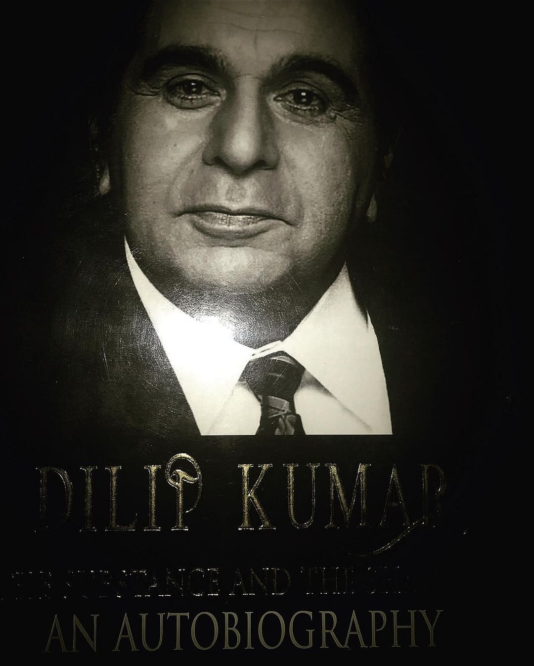 """<div class=""""paragraphs""""><p>He also posted the cover ofDilip Kumar's autobiography.</p></div>"""