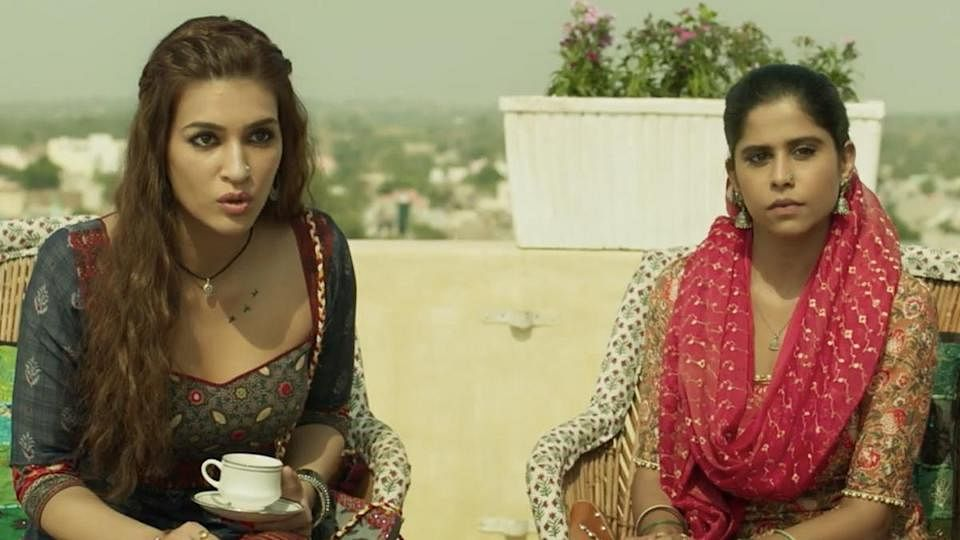 "<div class=""paragraphs""><p>Kriti Sanon and&nbsp;Sai Tamhankar in <em>Mimi</em>.</p></div>"