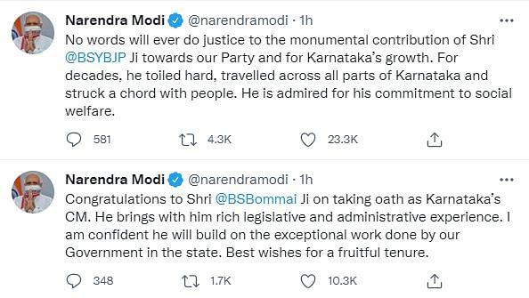 """<div class=""""paragraphs""""><p>Tweets by PM Modi</p></div>"""