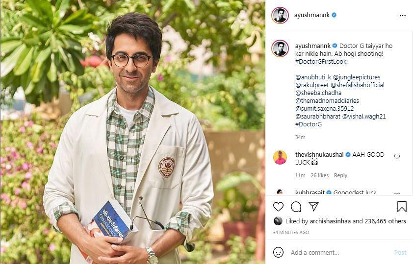 Ayushmann Khurrana Shares First Look From Doctor G