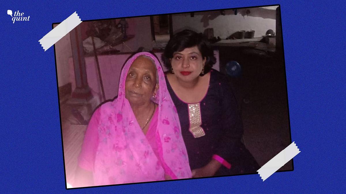 "<div class=""paragraphs""><p>Shashi Ahirwar with her mother.&nbsp;</p></div>"