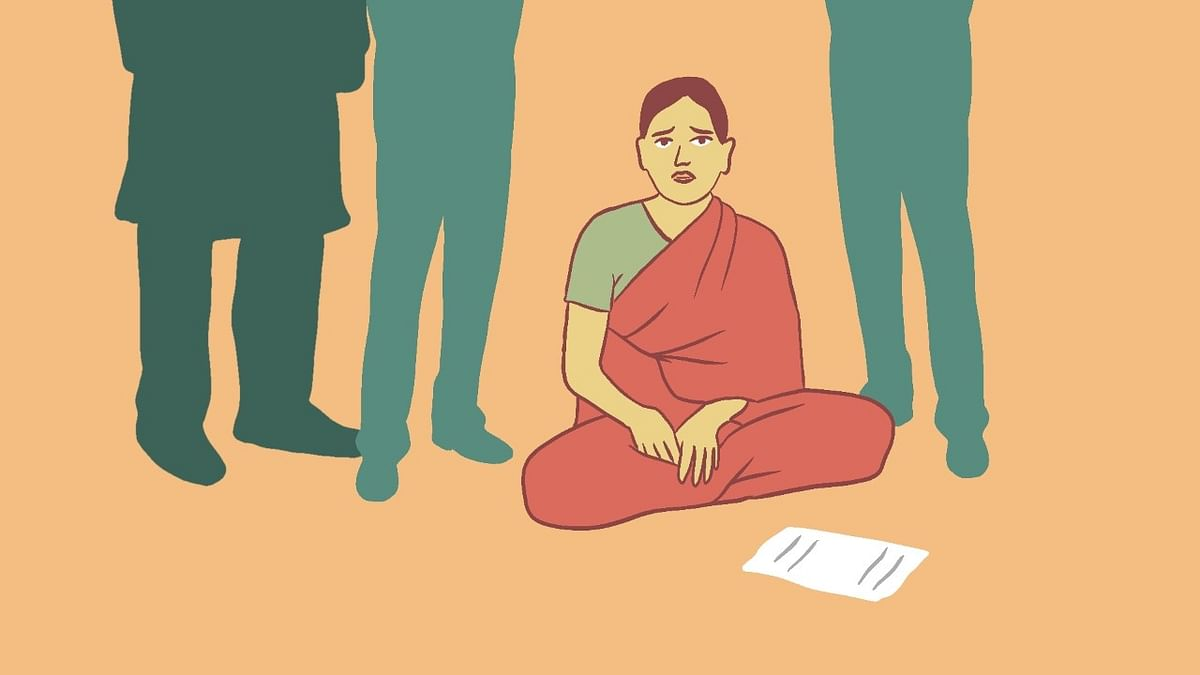 """<div class=""""paragraphs""""><p>This is Sunita, forced to comrpomise after being gang raped by four, she continues to live a life of fear and shame.</p></div>"""