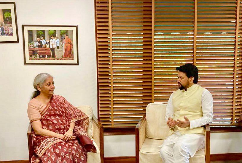 "<div class=""paragraphs""><p>Finance Minister Nirmala Sitharaman and I&amp;B Minister Anurag Thakur.</p></div>"