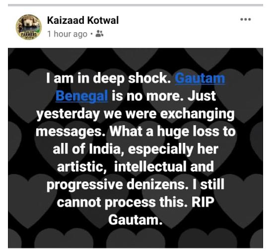Cartoonist & Filmmaker Gautam Benegal Passes Away Aged 56