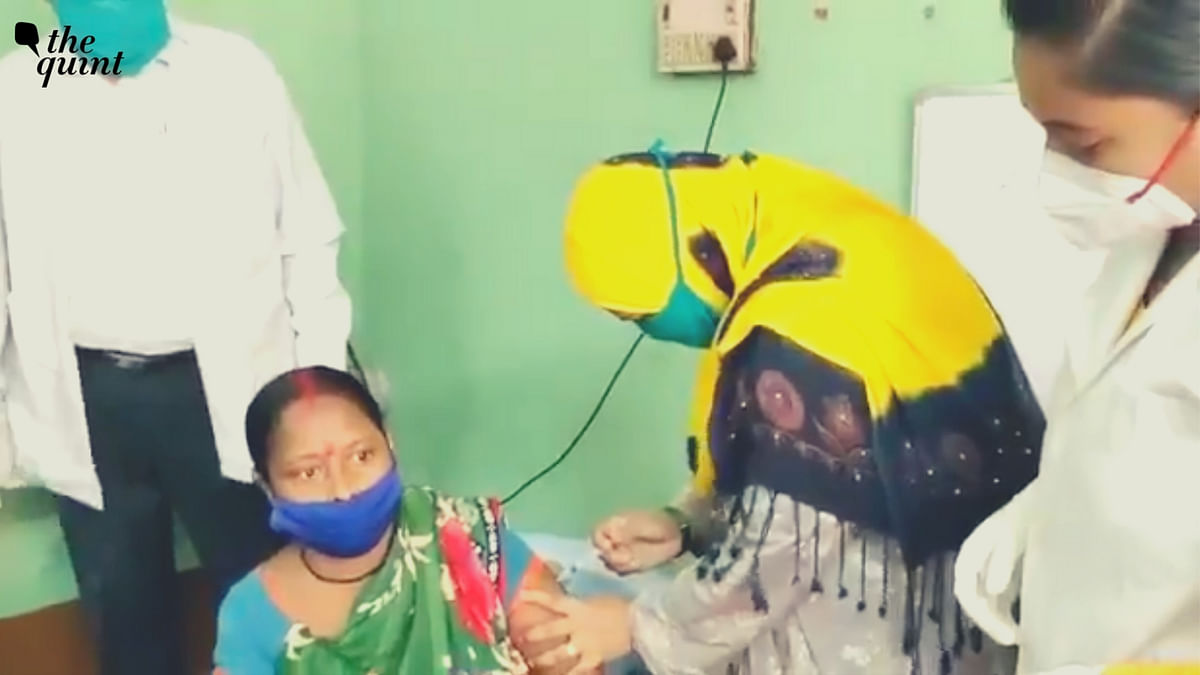 """<div class=""""paragraphs""""><p>BJP leaders slammed the Trinamool councillor Tabassum Ara, for vaccinating a person, with no prior medical experience.</p></div>"""