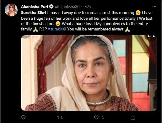Artist Par Excellence: Avika Gor, Karisma Kapoor Mourn Surekha Sikri's Demise