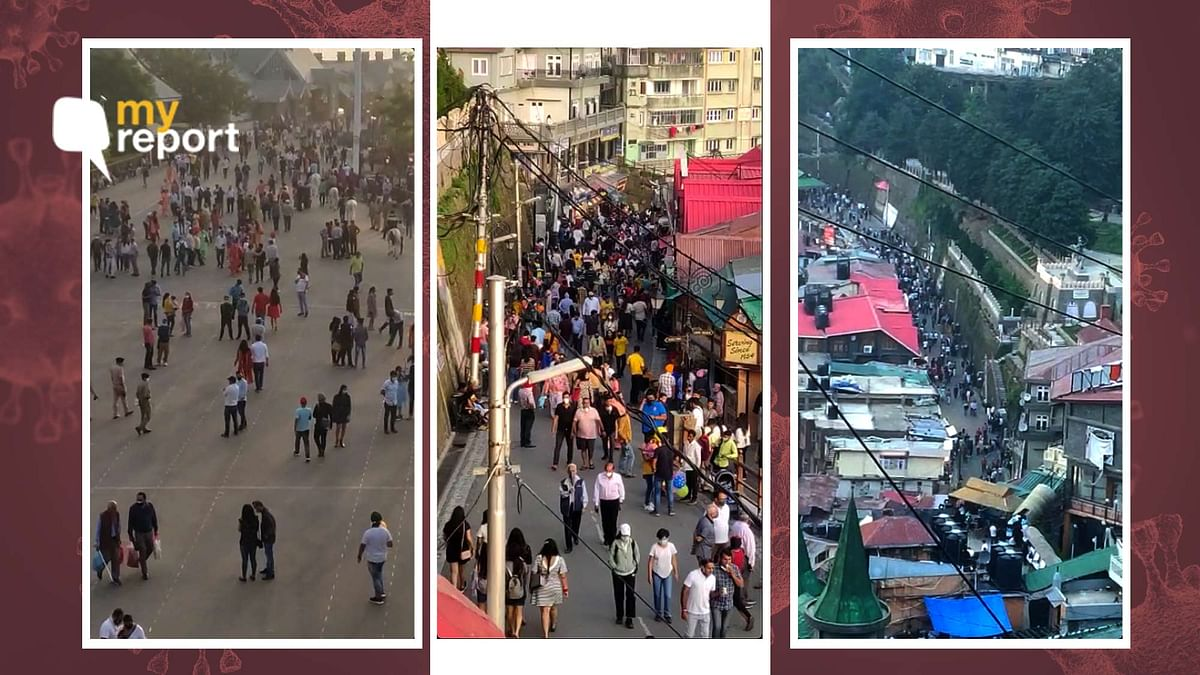 """<div class=""""paragraphs""""><p>Tourists arriving from across the country have choked the roads in Shimla</p></div>"""