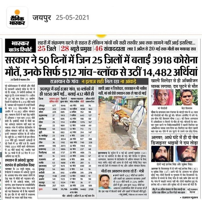 Bodies in Ganga to 'Real' Death Toll: How Dainik Bhaskar Led COVID Coverage