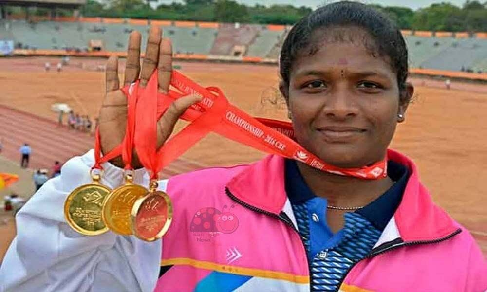 """<div class=""""paragraphs""""><p>Coach Kannan of the Sports Development Authority of Tamil Nadu recognised Revathi Veramani's talent during a zonal-level meet, when she was in Class 12.</p></div>"""