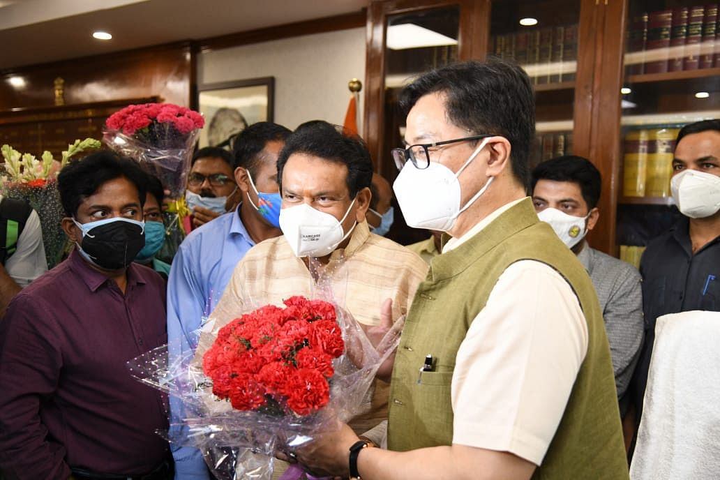"""<div class=""""paragraphs""""><p>Minister of Law and Justice Kiren Rijiju</p></div>"""