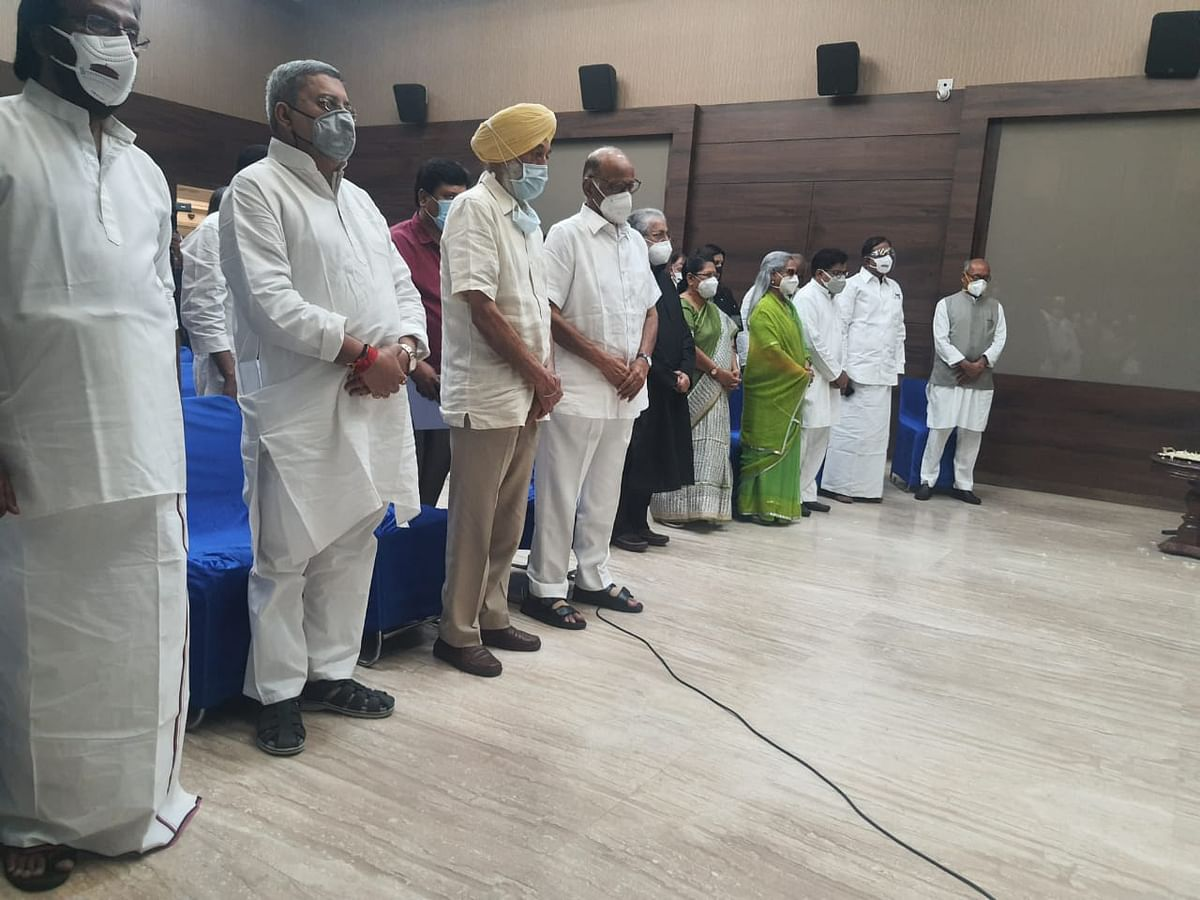 """<div class=""""paragraphs""""><p>Senior opposition leaders at Delhi's Constitution Club to hear Mamata Banerjee's virtual address at TMC's Shahid Dibas event.</p></div>"""