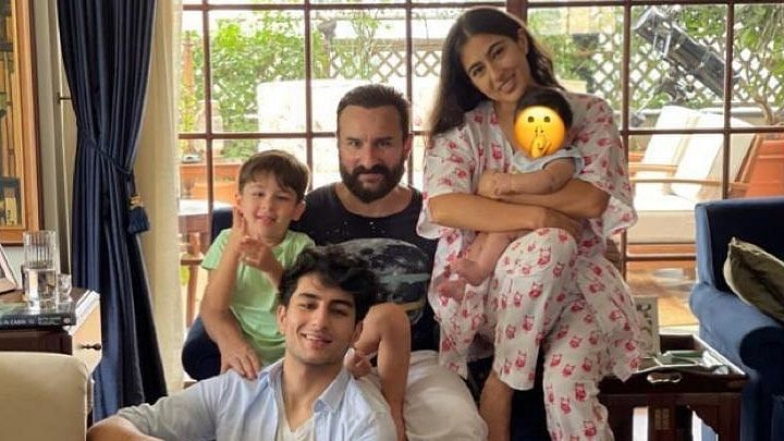 Saif Ali Khan Poses With All His Kids On the Occasion of Eid