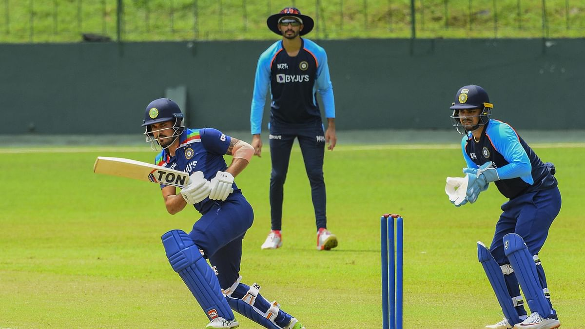 """<div class=""""paragraphs""""><p>Manish Pandey batting during the intra-squad game in Colombo.&nbsp;</p></div>"""