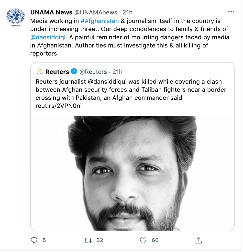 Taliban Denies Role in Killing Journalist Danish Siddiqui, US Condemns Attack